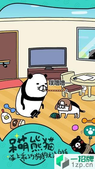 熊猫和狗狗狗真得好可爱